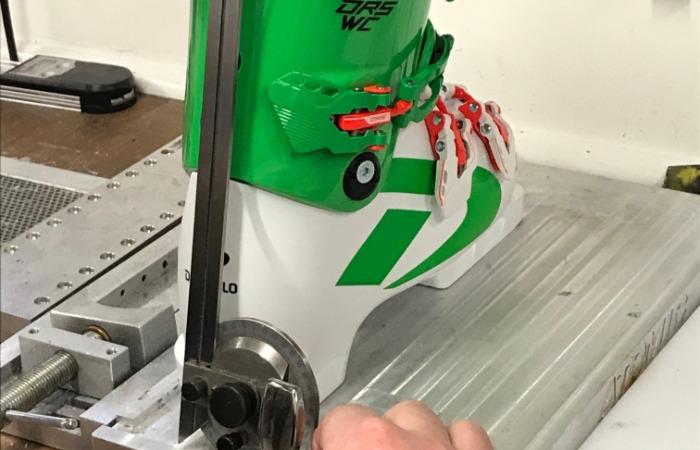 Ski race boot fitting